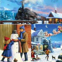 Painting by Numbers Christmas Multipack