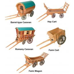 Five Model Caravan And Carts Plan Pack