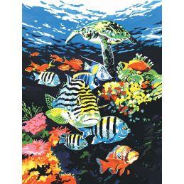 Canvas Ocean Painting Kit