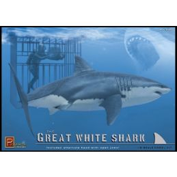 Pegasus Great White Shark and Diver in Cage Kit