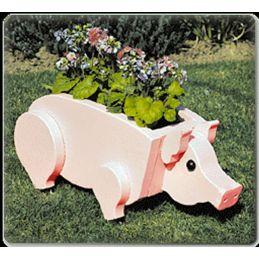 Pig Planter Plans