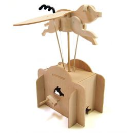 Pathfinders Build Your Own Flying Pig Automata Wooden Kit