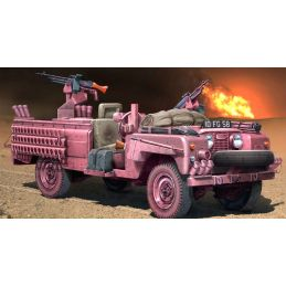 Italeri SAS Recon Vehicle Pink Panther 1:35 Scale Plastic Model Land Rover Kit
