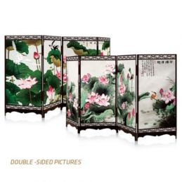 Lotus Pond Double Sided Jigsaw Screen