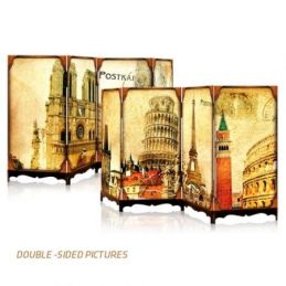 Famous Architectures Double Sided Jigsaw Screen