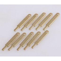 Flat Railing Stanchions 1 Hole 15mm 10pcs