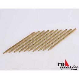 Flat Railing Stanchions 4 Hole 60mm 10pcs