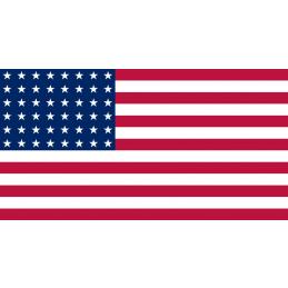 USA War Period 48 Stars National Cotton Flags