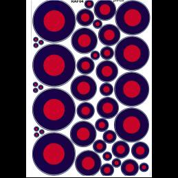 RAF Roundels low vis (Blue, Red)
