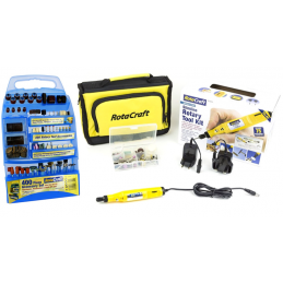 Rotacraft Slimline Engraver, Hobby Tool Set, 400 Piece Accessory Set & Case