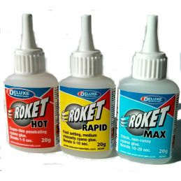 Deluxe Materials Roket Cyano Bargain Glue Pack