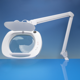 Light Craft Wide Lens LED Magnifier Lamp with Dual Dimmer