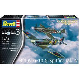 Revell 1:72 Scale Combat Set - Bf109 G-10 & Spitfire Mk.V
