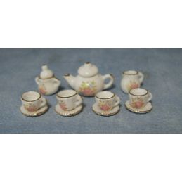 Floral Tea Set 1:12 Scale for Dolls House