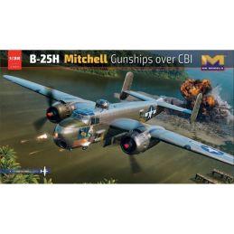 HK Models 1/32 B-25H Mitchell Gunships over CBI Plastic Model Kit