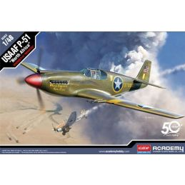 "Academy 1/48 USAAF P-51 ""North Africa"" / Mustang Mk IA Plastic Model Kit"