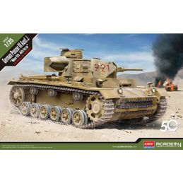 "Academy 1/35 German Panzer III Ausf J ""North Africa"" Plastic Model Kit"