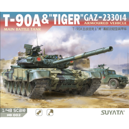 """1/48 Scale T-90A Main Battle Tank & GAZ-233014 """"Tiger"""" Armoured Vehicle Kit"""
