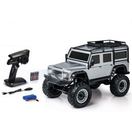 Carson 4WD Land Rover Defender Rock Crawler RTR Silver