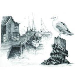 Sketching Made Easy Fishing Pier