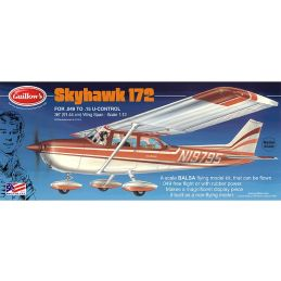Guillows Cessna Skyhawk 172 Balsa Airplane Flying Model Kit