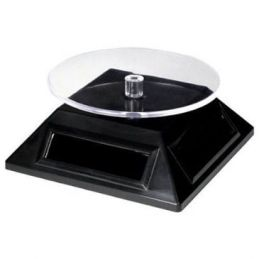 Metal Earth Solar Powered Spinner Turn Table Display Stand