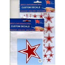 Soviet Star Red White Decals