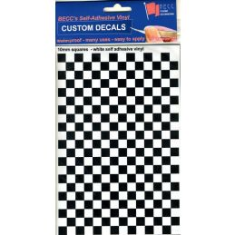 Vinyl Squares Chequer Pattern Black White