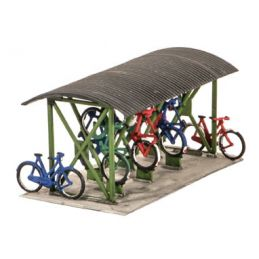 Peco Bicycle shed & Bicycles