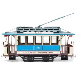 Occre Stuttgart 222 German Tram 1:24 Scale Wood and Metal Model Kit