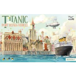 Titanic - Port Scene & Flying Machine Plastic Model Kit
