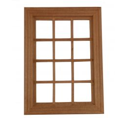 12th Scale Large Wooden Window