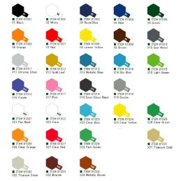 Tamiya Acrylic Gloss Paints (10ml) X1-X34