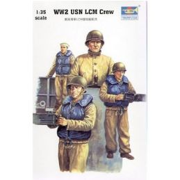 Trumpeter LCM-3 WWII USN Crew 1:35 Scale Plastic Model Figures