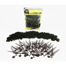 Forest Green Conifer Realistic Trees Kit Pack of 24