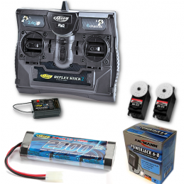 Model Truck Radio Package - 5 Channel Radio, Servos, Battery and Charger