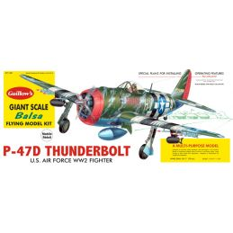 Guillows P-47D Thunderbolt Balsa Model Plane