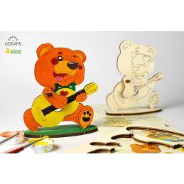 UGears 3D Colouring Model Bear-Cub
