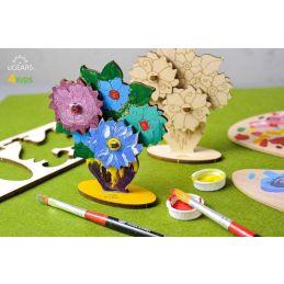 UGears 3D Colouring Model Bouquet