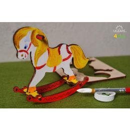 UGears 3D Colouring Model Rocking Horse