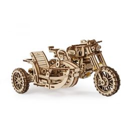 UGears Scrambler UGR-10 Motor Bike with Sidecar Wooden Kit