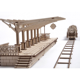 UGears Railway Platform Wooden Kit