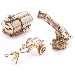 UGears Tanker, Ladder and Trailer additions for Truck Wooden Kit