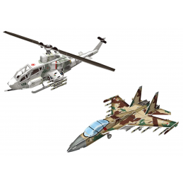 CubicFun P628H A1Huey and Cobra Fighter Jet 3D Puzzle