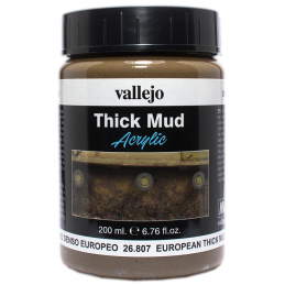 Vallejo European Thick Mud Weathering Effects 200ml