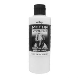 Vallejo Mecha Acrylic Satin Varnish 200ml for Brush or Airbrush