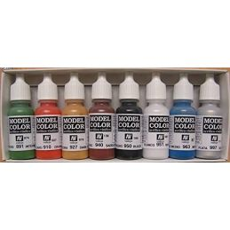 Vallejo Wargames Basics Acrylic Paint Set 8 x 17ml