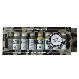Vallejo Panzer Aces No.3 Allied Crew Uniforms Acrylic Paint Set 8 x 17ml