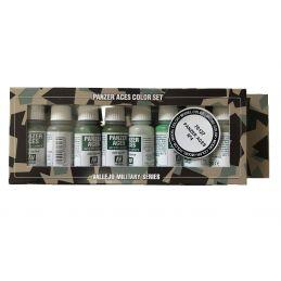 Vallejo Panzer Aces No.4 Various Crew Uniforms Acrylic Paint Set 8 x 17ml