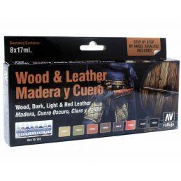 Vallejo Model Color Set Wood & Leather Paint Set